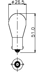 Miniature Aircraft Lamp 1665IF