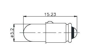 T-1 3/4 Midget Grooved Based Lamp 388