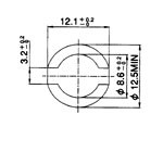 recommended mount hole - PCB thickness 1.45 – 1.65