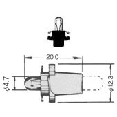 T-11/2PBB PCB Lamp Bayonet 5033