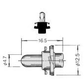 T-11/2PBC PCB Lamp Bayonet 5025